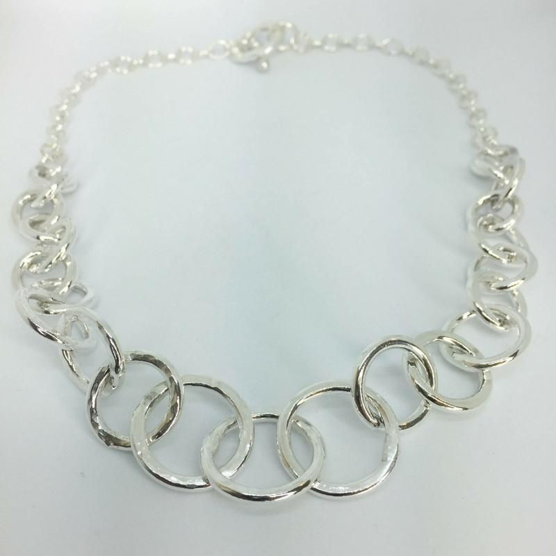 bad1eaf39 Silver Chain Link Necklace in 2019 | Jewels - 9 | Chunky silver ...