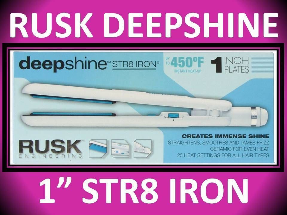 Straightening And Curling Irons 177659 New Rusk Str8 1 Deepshine Ceramic Anti Frizz 450 Hair Straightener Flat Iron It Now Only 41 97 On Ebay