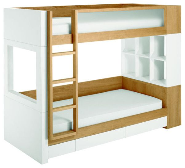 white and brown color Modern Bunk Beds For Kids | furniture ...