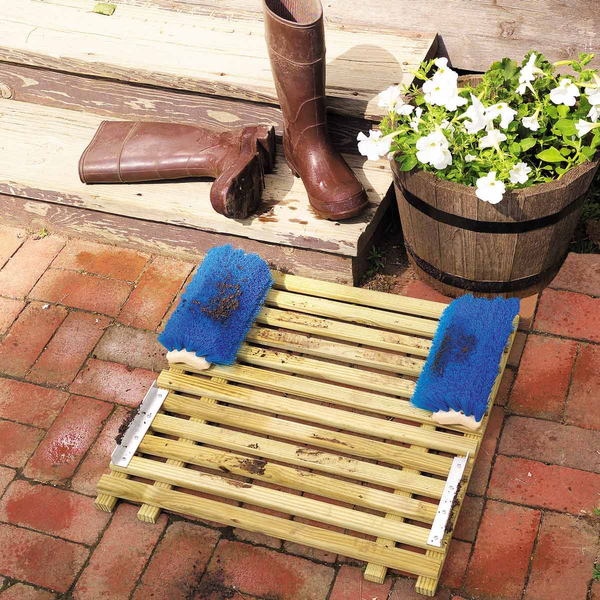 Back Stoop Boot Scraper With Images Beginner Woodworking Projects Easy Woodworking Projects Woodworking Projects