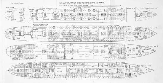 PhotographBlueprints for the Titanic and the Olympic Titanic at - fresh e blueprint denver