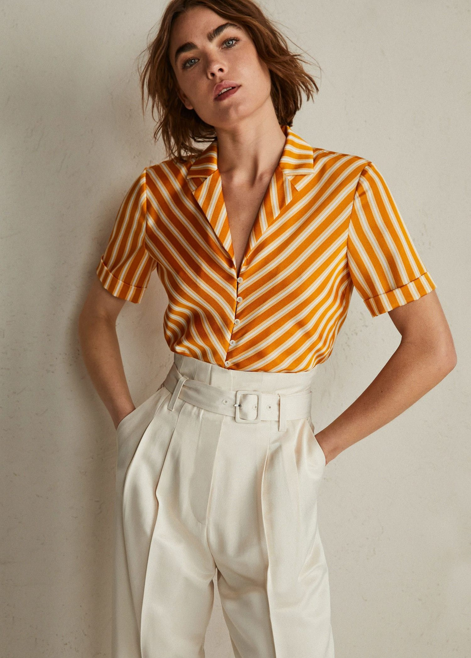 caa2b0ff125ba2 Mango Knot Detail Flowy Blouse - Women   6   Taste in fashion ...