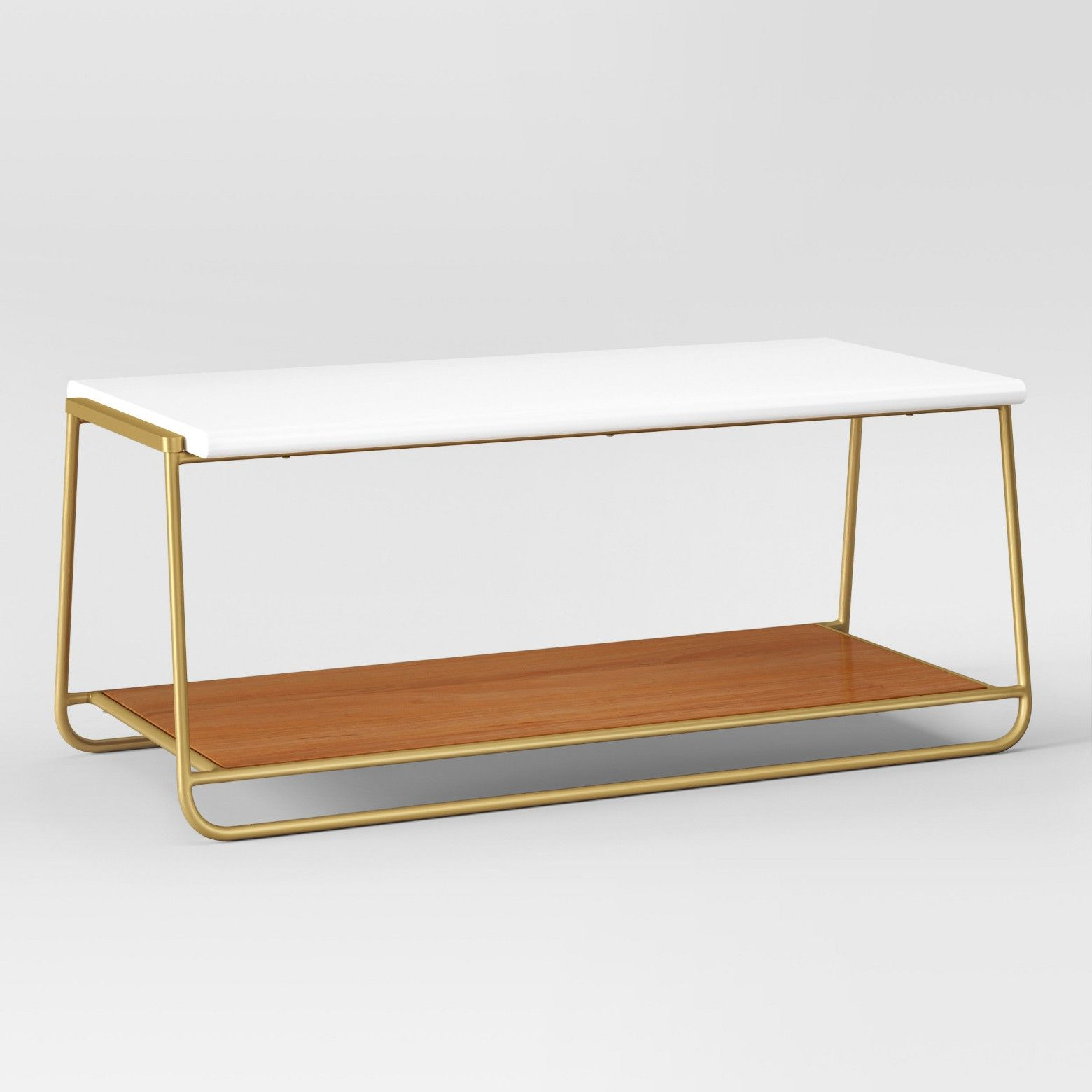 Sayer Coffee Table White Project White Coffee Tables Wood - White coffee table with gold legs