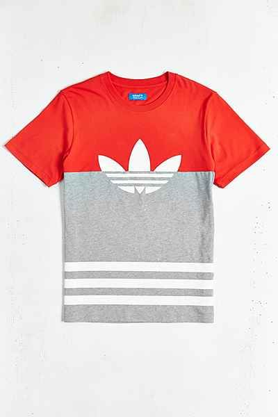 newest c1dd8 208cb Graphic T-Shirts + Sweatshirts for Men. adidas Originals Colorblock Trefoil  Tee