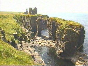 Castle Sinclair Girnigoe in Caithness, Scotland