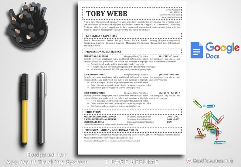resume template with dummy text