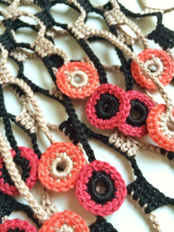 Earth night shades crochet summer scarf | Pinterest | Crochet con ...