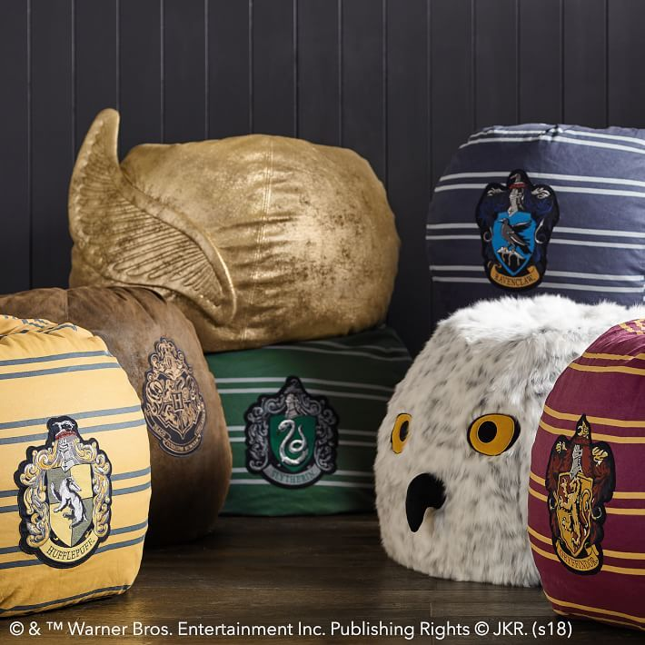 Lounge In Hogwarts Style With Each Beanbag Boasting The