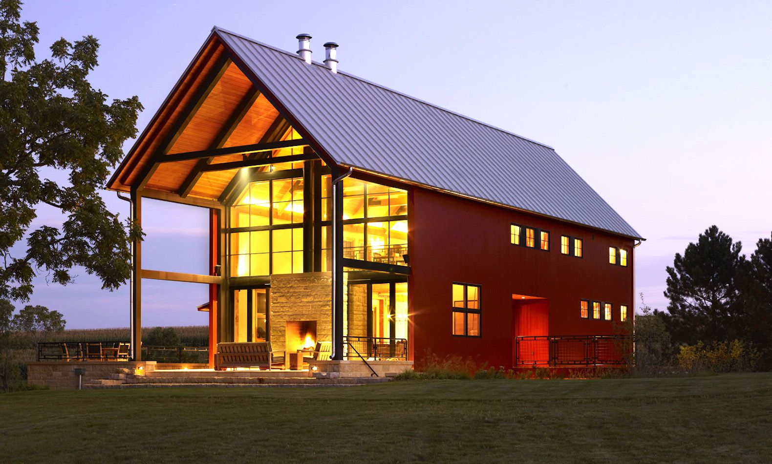 old shabby barn is reborn as a stunning, near net-zero modern home