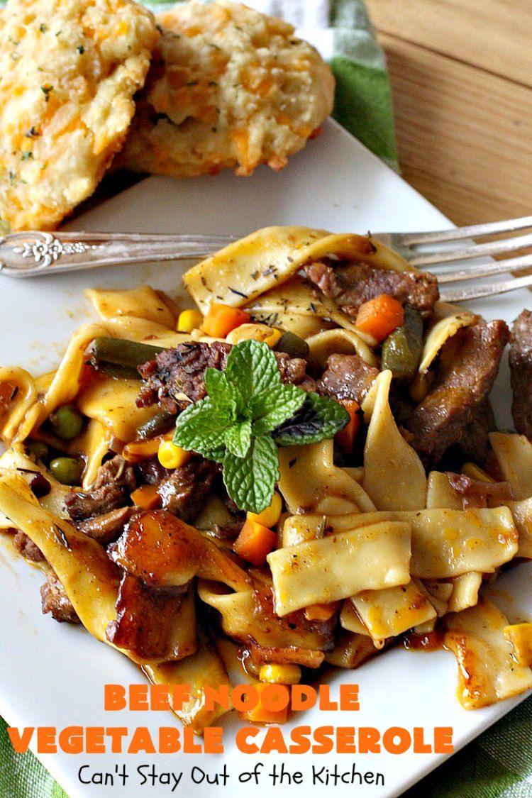 beef noodle vegetable casserole  recipe in 2020