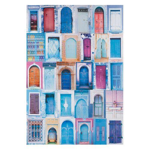 Lienzo puertas azul 60 x 87 cm chefchaouen lo quiero - Porte revues maison du monde ...