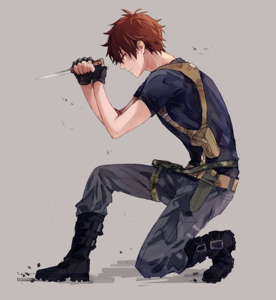 Nikolas If It Were Two Guns And Not A Knife Cool Anime Guys