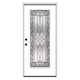 Reliabilt 36 In Decorative Inswing Fiberglass Entry Door