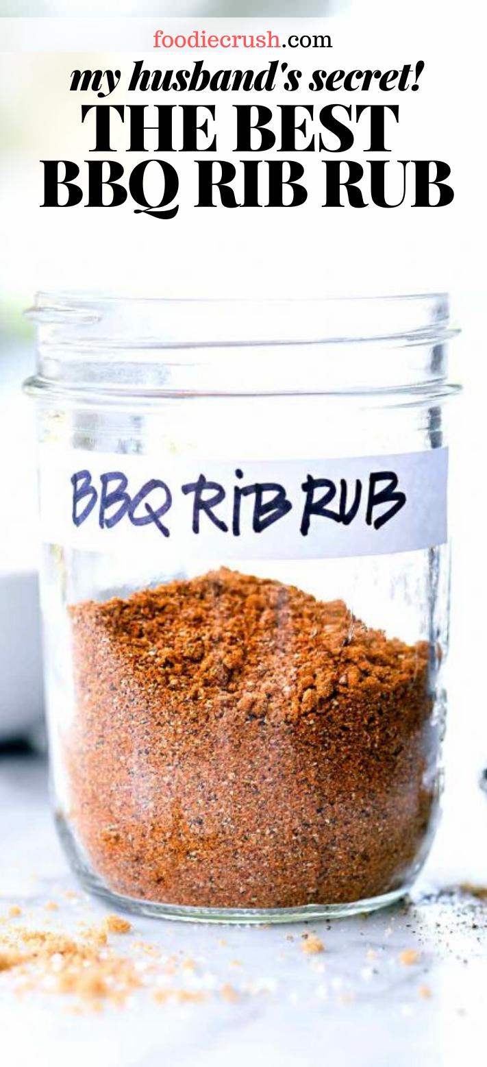 My Husband S Secret Recipe For The Best Dry Rub For Ribs Foodiecrush Com Pork Rib Rub Recipe Ribs Seasoning Bbq Rub Recipe