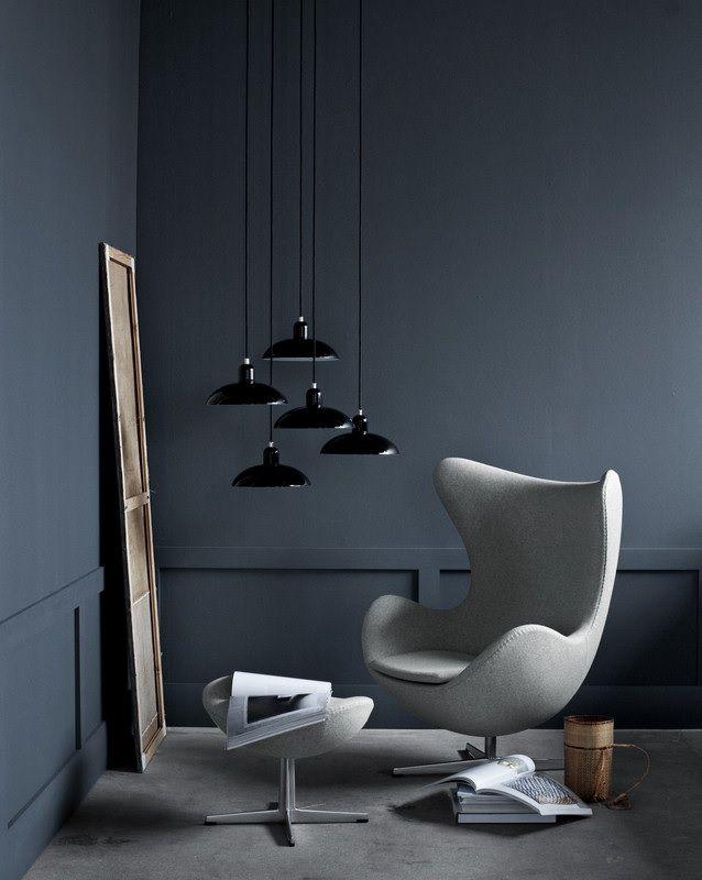 Fritz Hansen Egg Chair grijs. #design #interior #interieur #style #styling #stilist #fritzhansen #arnejacobsen #fauteuil #loungestoel #lounge