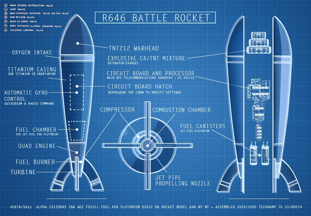 Rocket blueprints rocket blueprint pher 39 s board for Print blueprints online