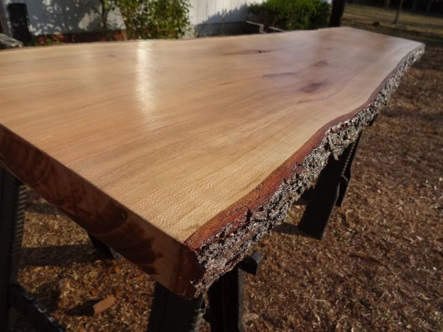 Live edge cherry solid hardwood wood slab natural table for Wood slab coffee table diy