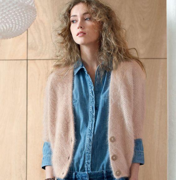 modele tricot gilet zippe femme
