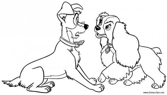 lady and the tramp coloring pages - Google-søgning   Coloring Pages ...