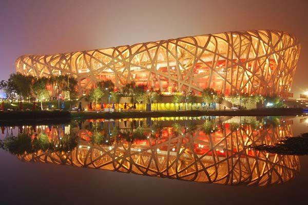 the 'Birdnest' Olympic Stadium