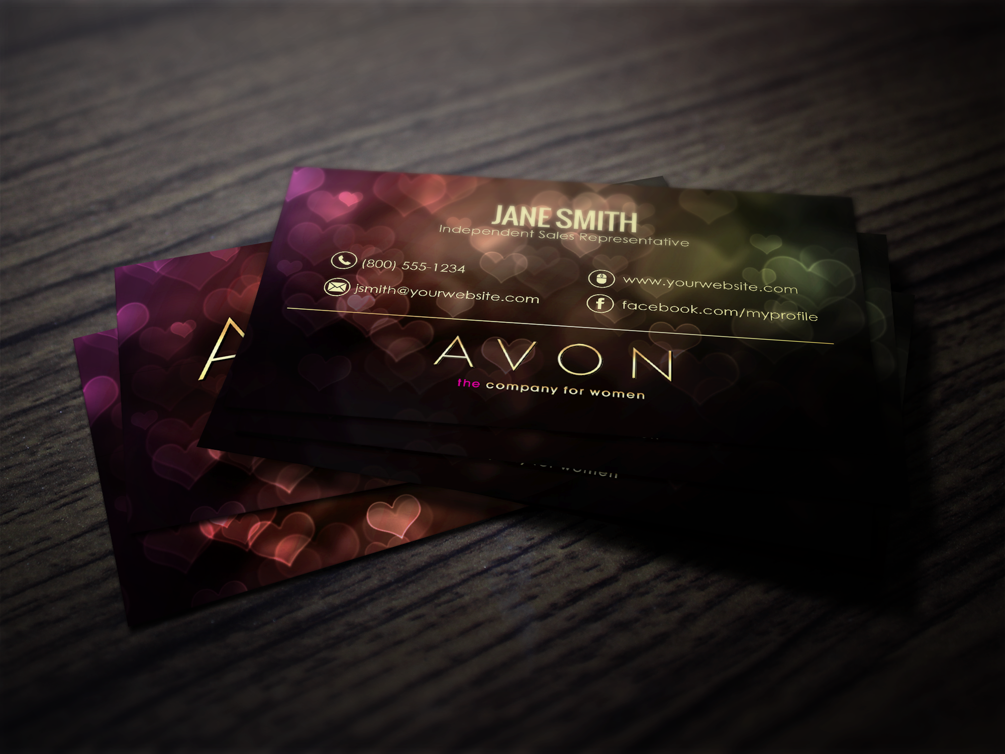 Modern Business Card For The Minimalist Avon Representative - Avon business card template