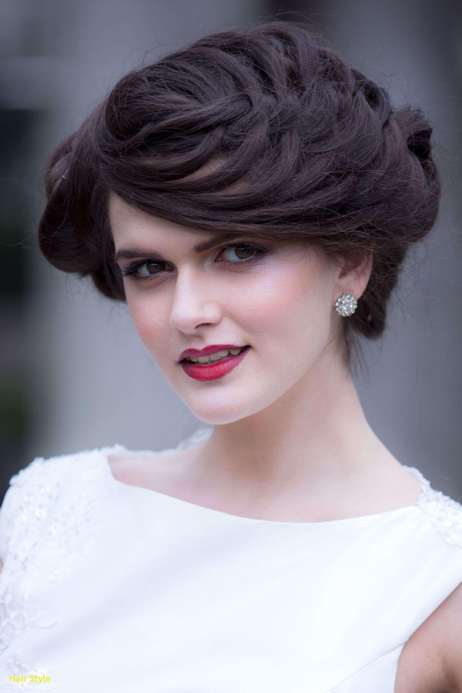 elegantes haar zur seite hochzeit frisuren