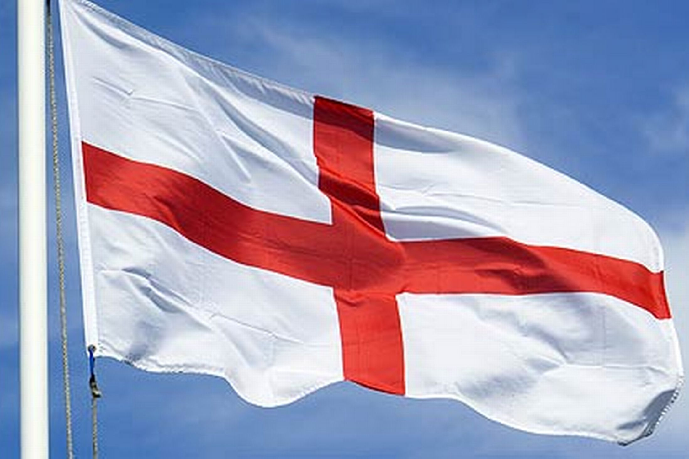 ST GEORGE CROSS FLAG EMBROIDERED IRON ON PATCH england british national pride