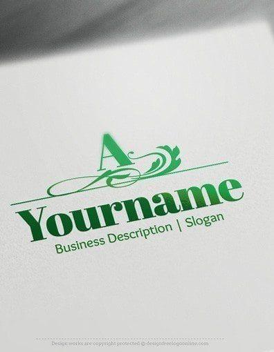 Design Free Letter Logo Maker Initials Luxury Logo