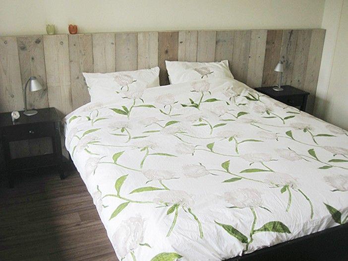 Slaapkamer Met Steigerhout : Hoofdbord bed steigerhout awesome beste van slaapkamer met