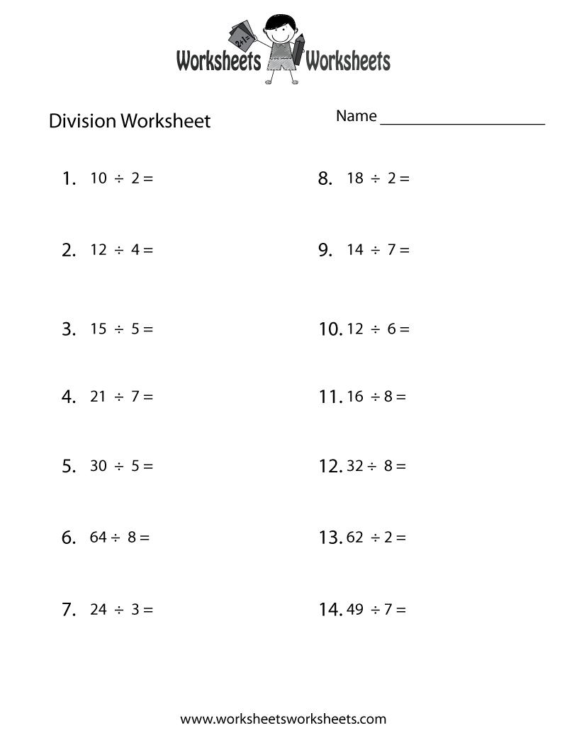 Division Practice Worksheet Free Printable Educational Worksheet Division Practice Practices Worksheets Division Worksheets [ 1035 x 800 Pixel ]