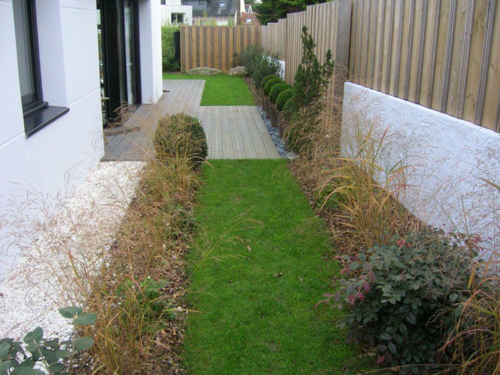 Créa Paysage, Jardin contemporain et structure avec palissade en ...