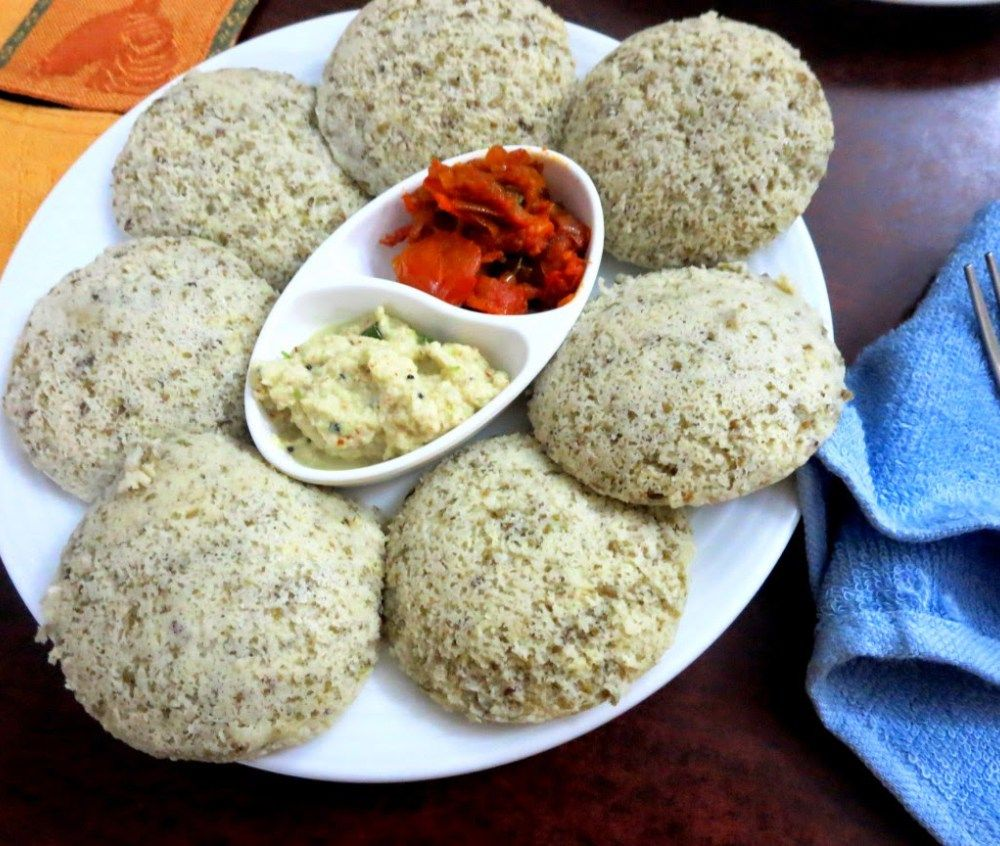 Sprouted Moong Dal Idli Low Carb Indian Vegetarian Recipe