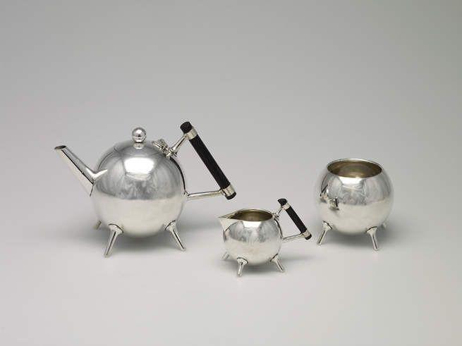 Christopher Dresser Tea Service Set Teapot Sugar Bowl Milk Jug