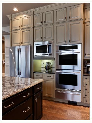 Charming Traditional Kitchen, Double Ovens, Microwave Placement In Kitchen Design,  Remodel, Decor And Ideas