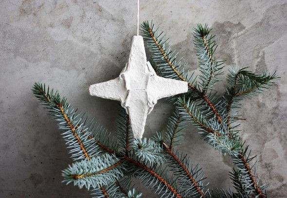 What on earth can you make from egg carton? A Christmas star of ...