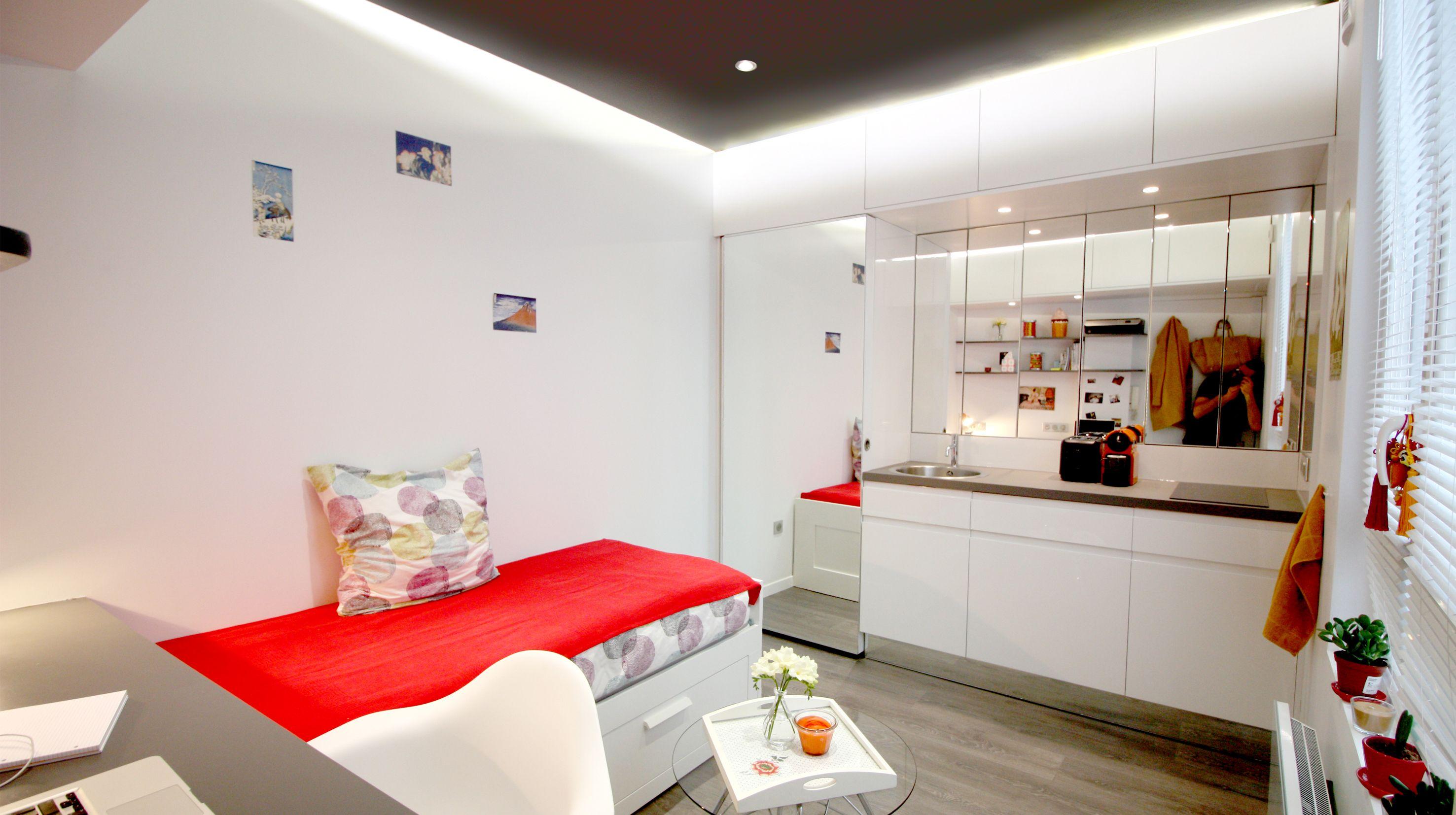 Architecte D Intérieur Lille studio 9m² ] | boddaert architecte d'interieur lille