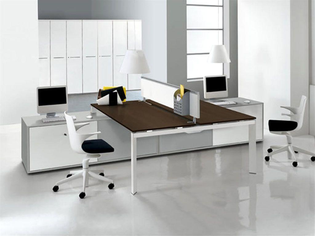 Beautiful Double Office Desk Modern Office Interior Design Double En Modern Office Furniture Design Contemporary Office Furniture Office Interior Design Modern