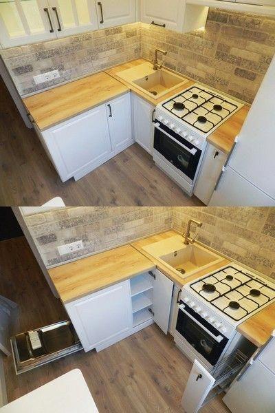 Белая кухня 6 кв м в хрущевке с холодильником и ...