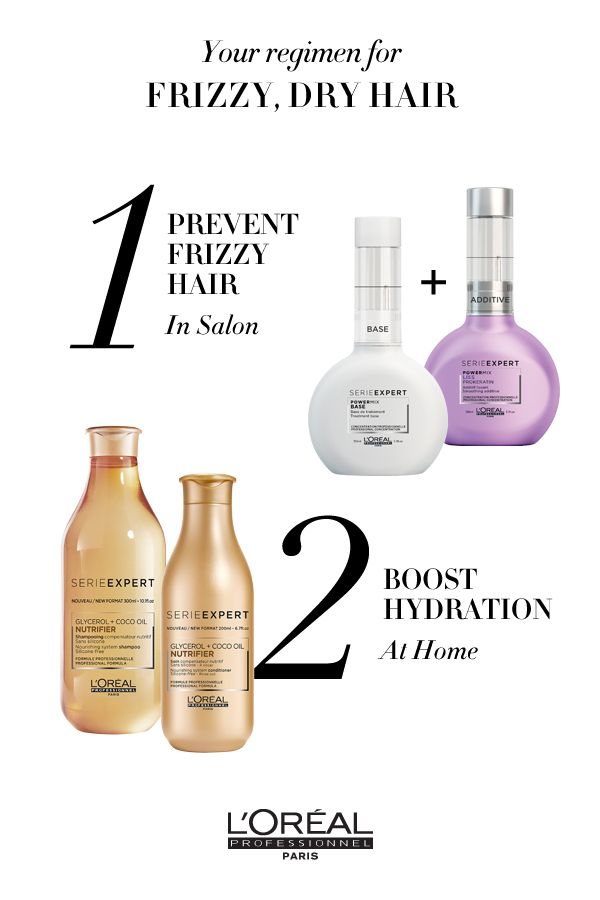 For Frizzy Dry Hair Use Serie Expert Powermix In Salon To Prevent Frizzy Hair And Absolut Repair Lipidium To Boost Hydrat Treat Damaged Hair Hair Care Loreal