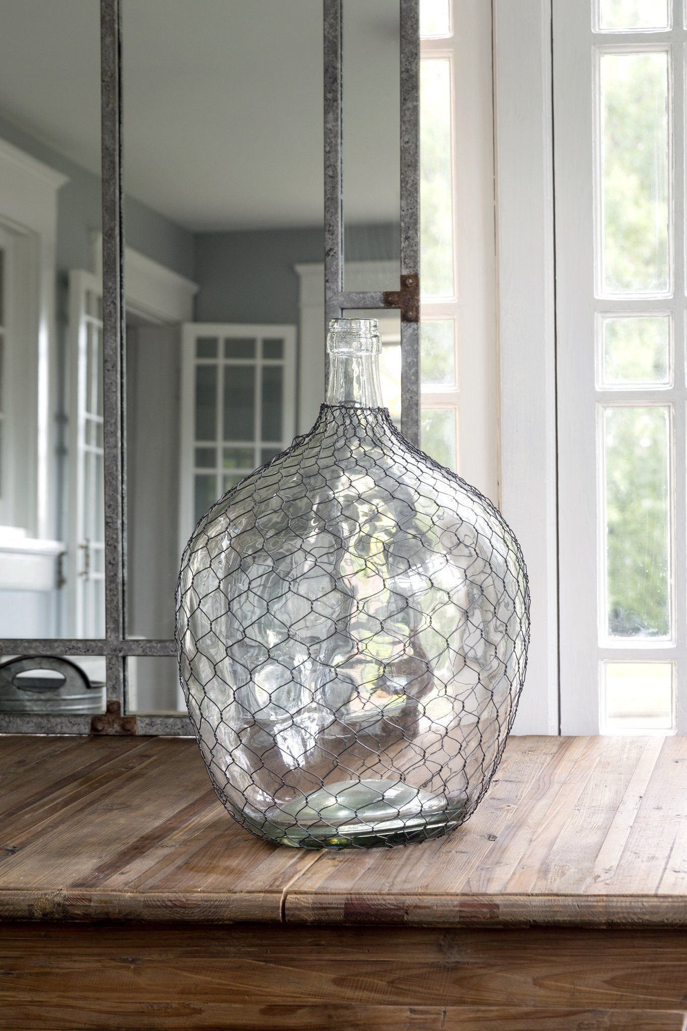 This Wire Covered Cellar Bottle is an upgraded version of the common ...