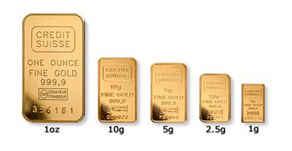 Gold Ingot Size Comparison