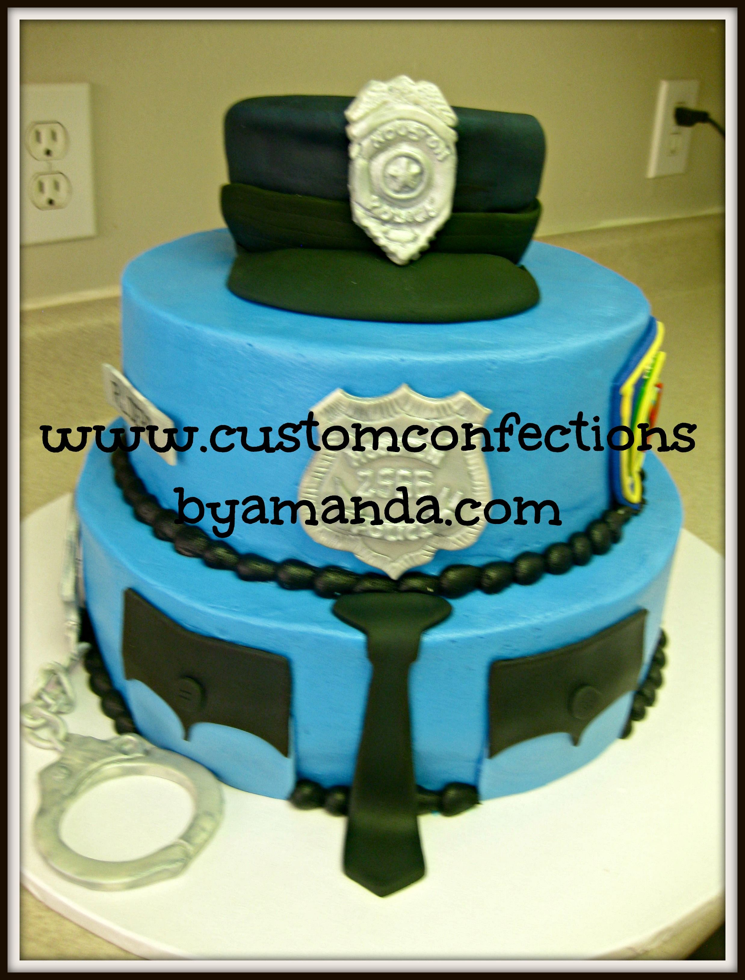 I Have Been Blessed To Create Two Police Cakes For Officers Of The Houston Department This Year First Was A Academy Graduation