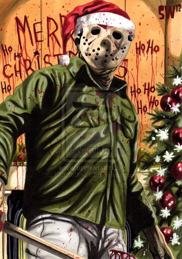 Twas The Night Before Christmas By Fiendish Art On Deviantart Christmas Horror Horror Movie Icons Horror Movie Art