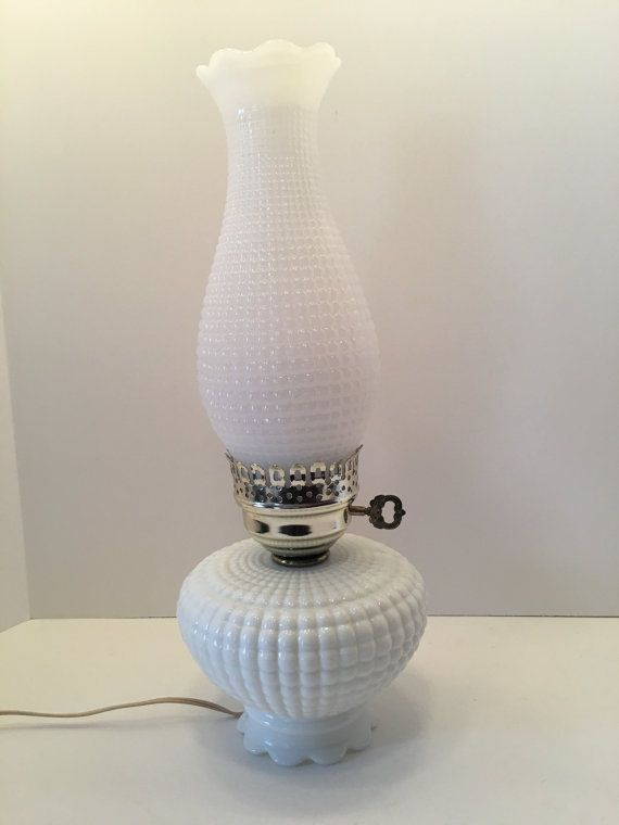 Milk Glass Lamp  Quilted Pillow Pattern  by CharliesVintageAttic