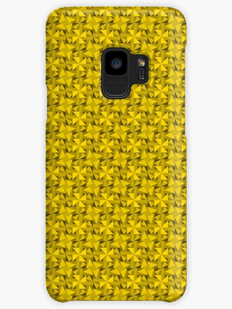Yellow Triangles' Case/Skin for Samsung Galaxy by Eric