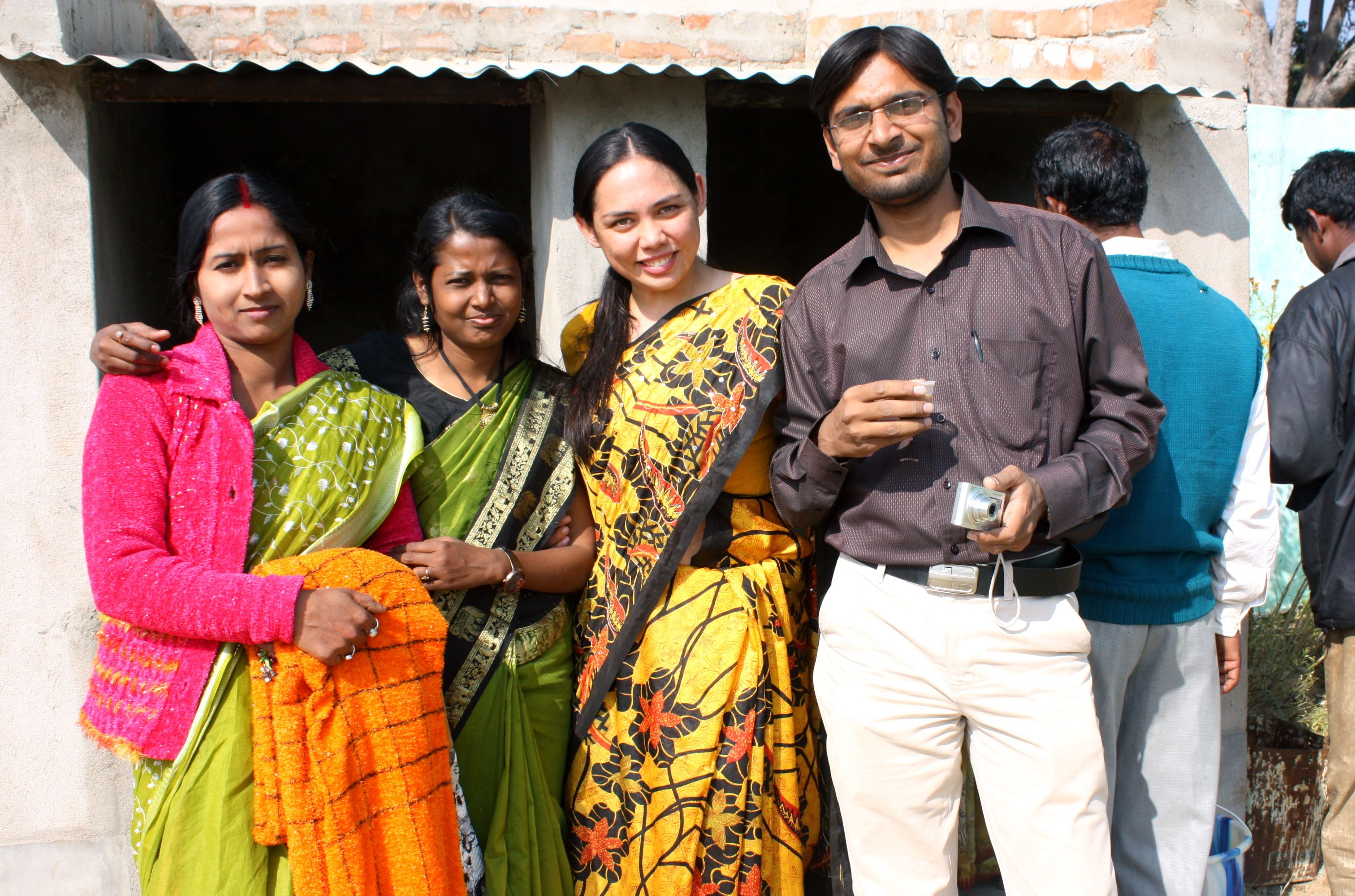 With my students. <3 Dabar Village, India.