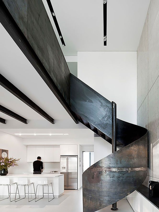 Nam Dger Apartment Is A Unique Modern Home Situated In Nam Tower In The  Heart Of Tel Aviv, Israel, Designed By Gerstner Architects   Spiral  Staircase