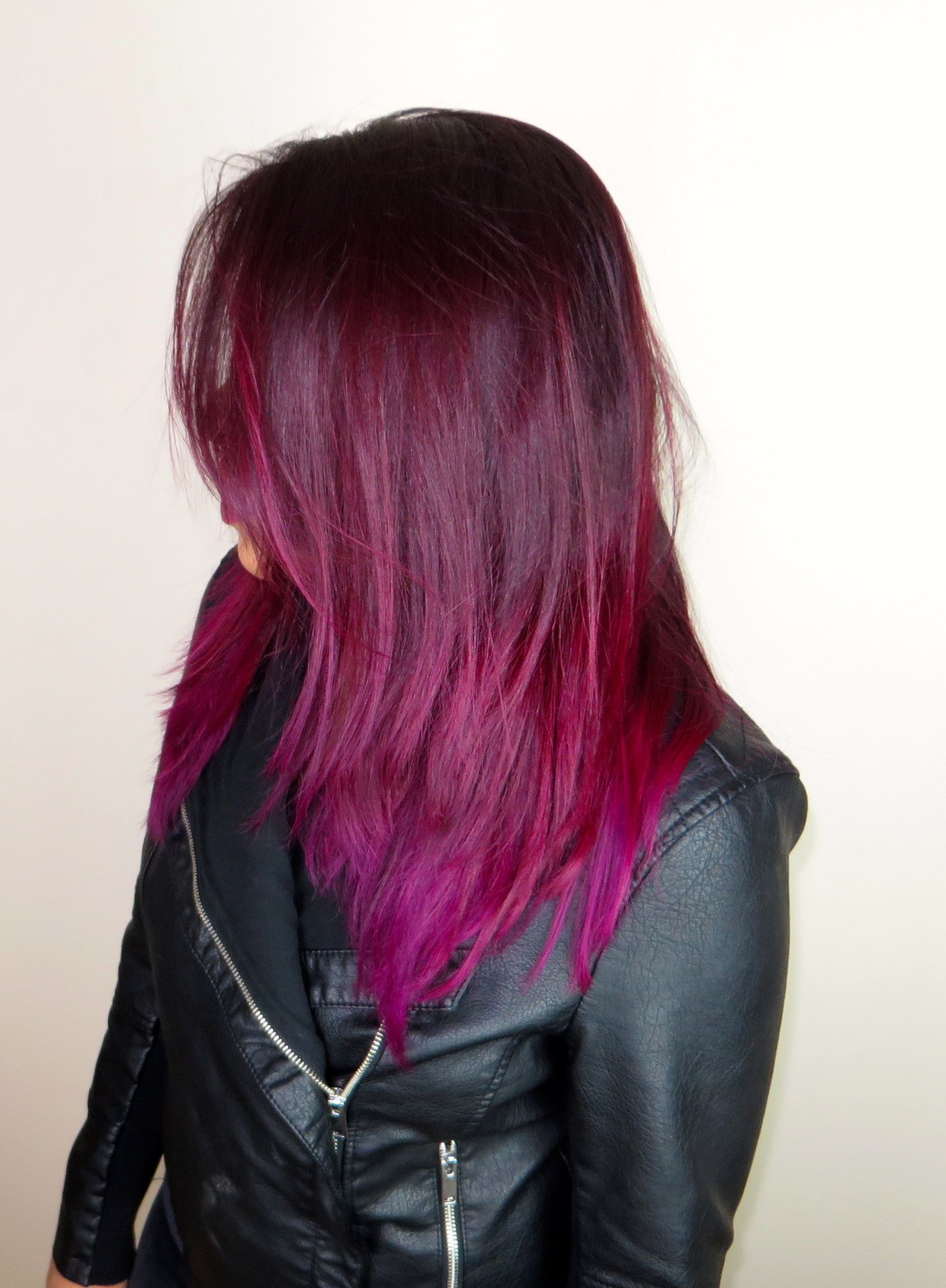 current hair purple pink red hair with la riche directions 39 dark tulip 39 oh and my. Black Bedroom Furniture Sets. Home Design Ideas