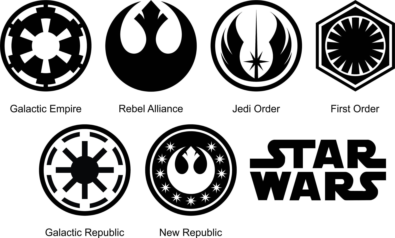 Star Wars Symbols Star Wars Symbols Star Wars Logos Symbols Star Wars Characters Vector