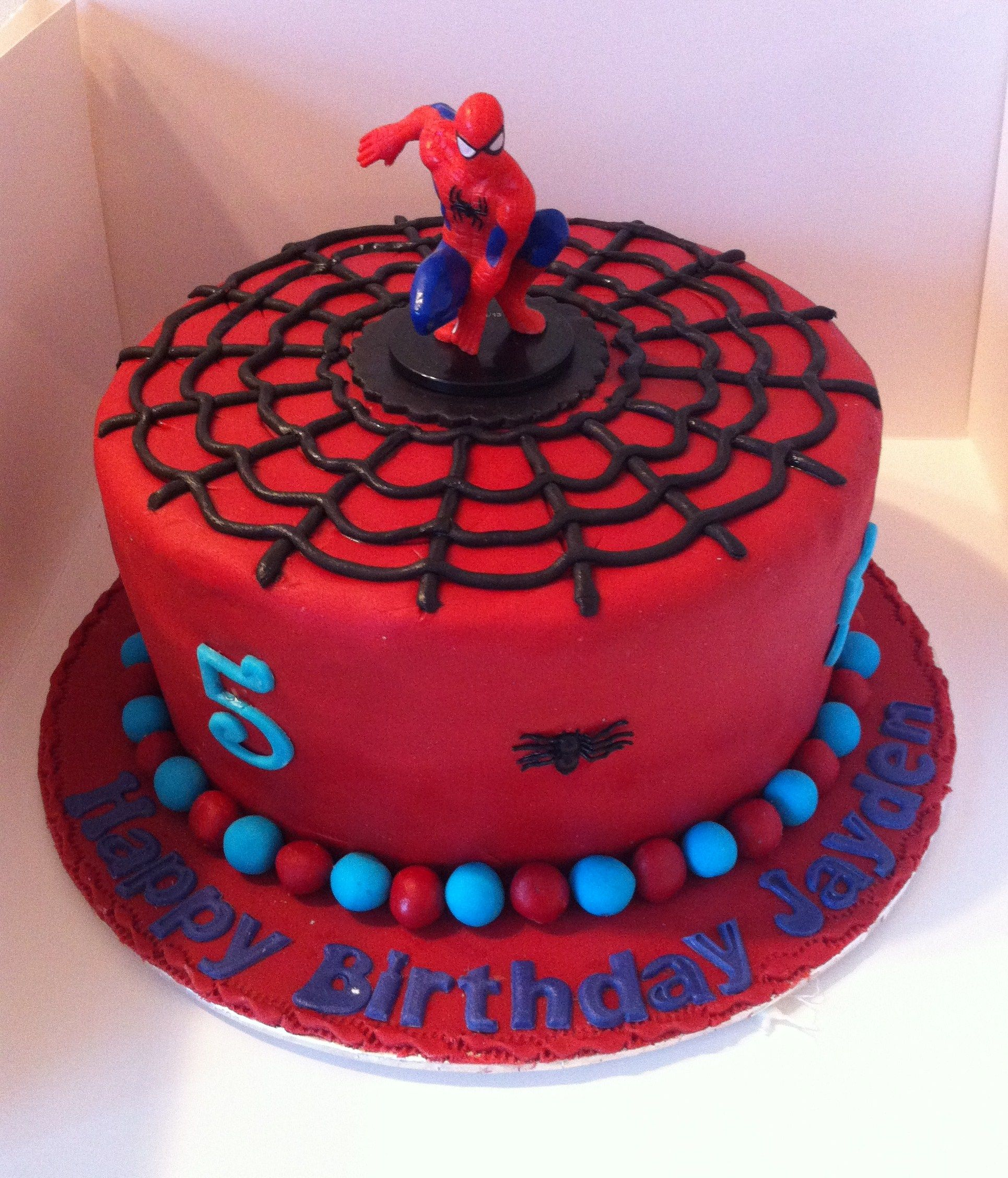 Tremendous Spiderman Cake Spiderman Birthday Cake Birthday Cake Kids Funny Birthday Cards Online Alyptdamsfinfo